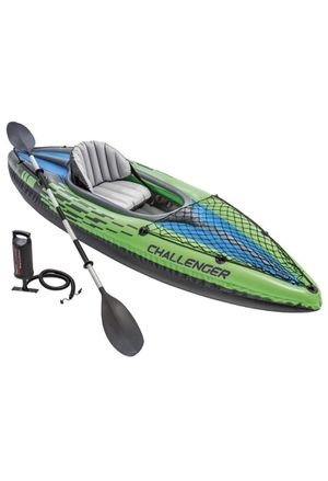 Intex Challenger K1 Kayak with Paddles and Pump Design for Easy Paddling Cockpit Design for Best Comfort and Space for Sale in Gilbert, AZ