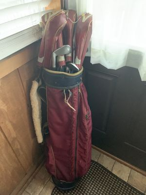 Golf clubs with bag and head covers for Sale in Linthicum Heights, MD