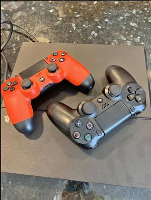 PS4 500gb, it has 4 games, 2 controller,HDMI cable and power cable perfect condition (like new) buyers can meet me face to face it's a real deal for Sale in Alexandria, VA