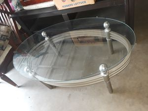 Coffee table and 2 end side tables glass 60 bux just need 2 b cleaned for Sale in Modesto, CA