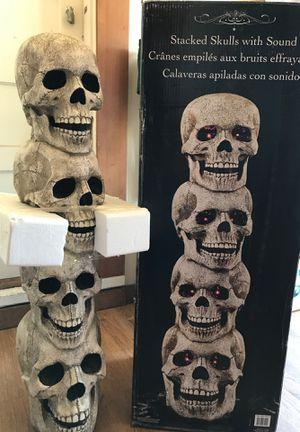 Halloween skulls decoration for Sale in Watsonville, CA