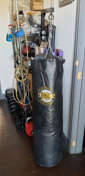 Boxing bag with wall mount hanger for Sale in Anaheim, CA