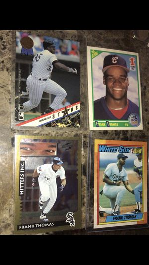 Lot of 4 Frank Thomas Baseball Cards HIGH GRADE for Sale in Evansville, IN