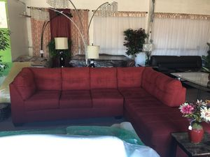 Burgundy sectional couch for Sale in Tampa, FL