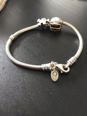 REAL PANDORA BRACLET WITH 2 CHARMS! (small) for Sale in Orland Park, IL