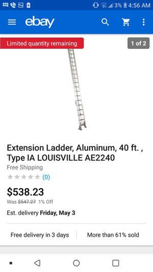 Aluminum 40ft Ladder for Sale in Fayetteville, GA