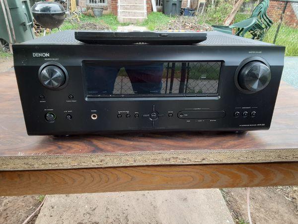 500 watts Denon surround sound HDMI receiver with remote control plus Pioneer surround sound bundle with subwoofer