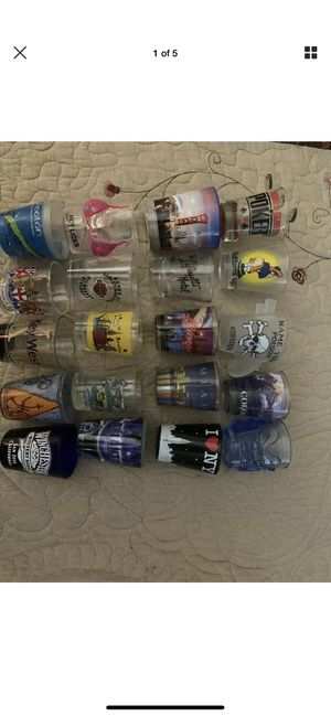 COLLECTION OF 35 SHOT GLASSES - Rare And Vintage Never Used for Sale in Carson, CA