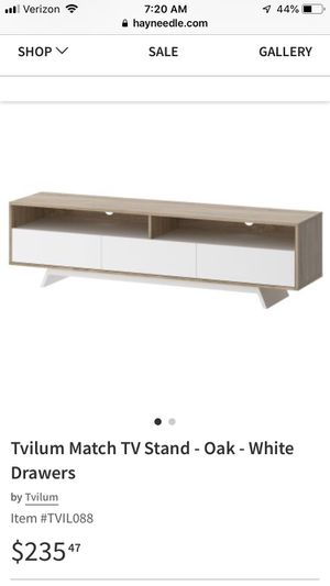 Brand new unused partially assembled 65 inch TV stand for Sale in Rockville, MD