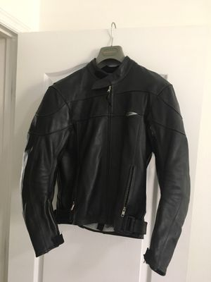 Teknic Motorcycle Racing Lather Jacket Black 38 for Sale in Orlando, FL