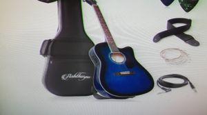 Full size cutaway thinline acoustic-electric guitar & EQ for Sale in Spokane, WA