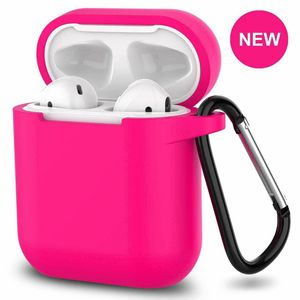 AirPods Silicone Case 1& 2 + Keychain Protective Case Color Hot Pink for Sale in Burlington, VT
