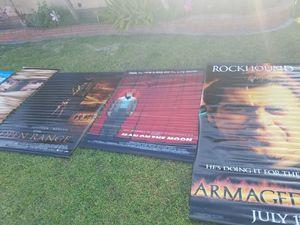 Movie promo vinyl posters Armegeddon Tangled for Sale in Santa Fe Springs, CA