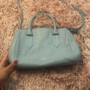 Original Vince Camuto Blue Leather Bag In Perfect Conditions for Sale in Miami, FL