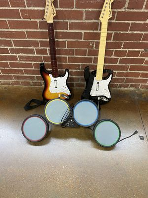 PlayStation RockBand Guitars and Drum Pad for Sale in St. Louis, MO
