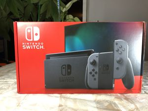 Brand New Nintendo Switch Gray Color V2 **IN HAND** for Sale in Hallandale Beach, FL