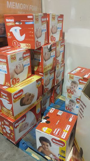 Huggies Baby Diapers Bulk Box Club Size 123 for Sale in Pflugerville, TX