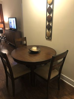 Solid wood dining table and chairs for Sale in Raleigh, NC