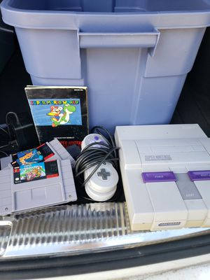 Super Nintendo w/3 games for Sale in Golden, CO