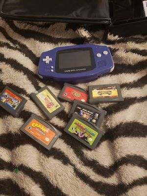 Gameboy advance. With 7 games and case for Sale in Orange, CA