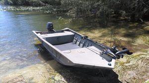 1448 Grizzly Tracker Bass Duck Gator Boat Skiff 14ft 14 ft All Welded Aluminum Jon John Semi V Hull Haul for Sale in Deerfield Beach, FL