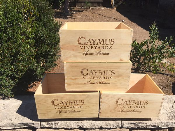 Decorative Wine Box   Caymus Special Selection   Wooden Wine Wine Crate