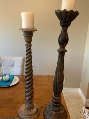 Wood candle holders for Sale in Laguna Niguel, CA