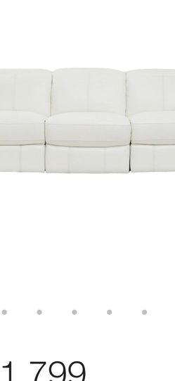 White Leather Sofa Recliner for Sale in Miami,  FL