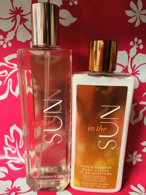 Bath & Body Works in the Sun 2pc set for Sale in Houston, TX