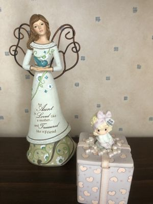 Precious Moments and Ceramic Angel for Sale in undefined