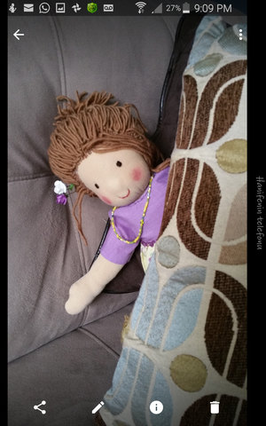 Children toy handmade rag doll waldorf doll gift decorative doll for kid's room for Sale in Tampa, FL