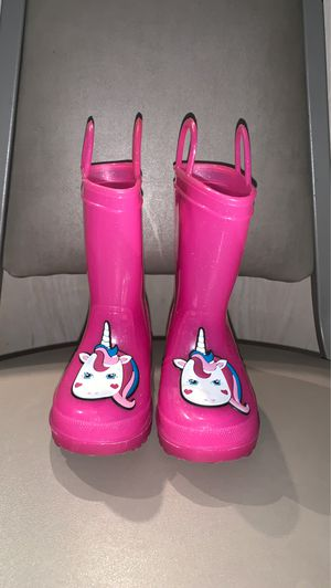 Toddler girl unicorn rain boots size 6 for Sale in Mount Prospect, IL