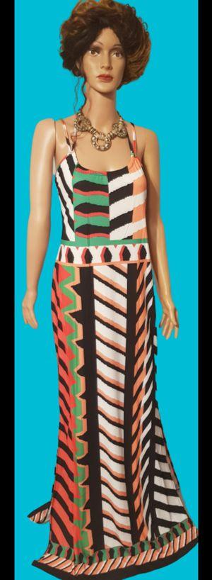 Multi Color Maxi Dress w/Split for Sale in North Little Rock, AR