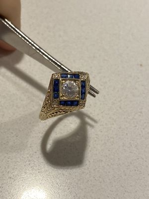 Vintage 14kt Gold Sapphire&Diamond ring for Sale in Seattle, WA