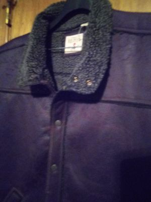 Leather Vest jacket/ Wool lining for Sale in Cumberland, VA