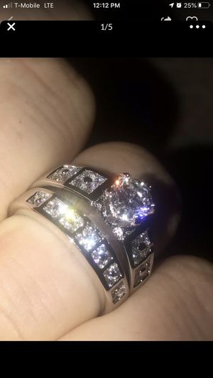 Size #10 , 18K white gold filled women's wedding engagement ring for Sale in Marina del Rey, CA