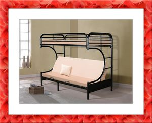 Bunk Bed Twin over Futon New with Mattress for Sale in NEW CARROLLTN, MD