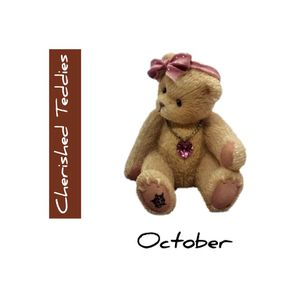 Cherished Teddies October Birthstone Mini Bear. SHIPPING ONLY!!! for Sale in Colorado Springs, CO