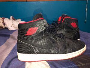 Jordan 1 snake skin black red white for Sale in Opa-locka, FL