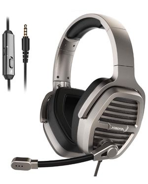 3.5mm Silver Gaming Headset, Over-Ear Stereo Gaming Headphones with Uni-Directional Microphone for PC, Computer, Laptop, PS4, Xbox One, Nintendo Swit for Sale in Corona, CA