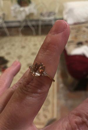 Genuine premium morganite ring in 10k rose gold with stud earrings for Sale in Milford, MA
