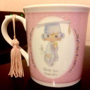 "PRECIOUS MOMENTS ""BLESS YOU GRADUATE"" PINK MUG WITH TASSLE (NIB) for Sale in Madeira Beach, FL"