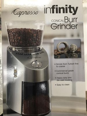Capresso Infinity Coffee Grinder for Sale in Reston, VA