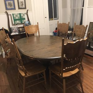 FREE: Dining Table And 6 Chairs for Sale in Lambertville, NJ