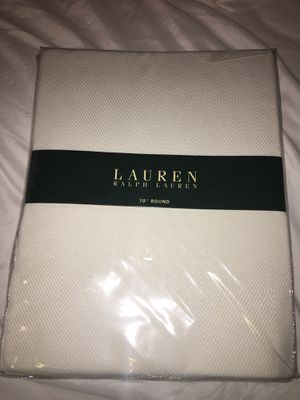 White round tablecloth. New. Ralph Lauren for Sale in Washington, DC