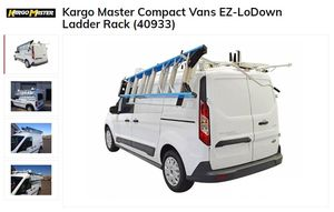 Kargo Master EZ LoDown Ladder Rack & Shelving Ford Transit for Sale in Fountain Valley, CA