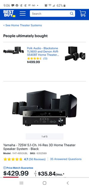 Yamaha home theater for Sale in Woodburn, OR