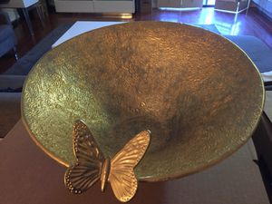 Gold plated butterfly bowl for Sale in Los Angeles, CA