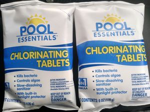 Pool Essentials Swimming Pool Chlorinating Tablets 6oz - 2 packs (2 tablets total) for Sale in Pottsville, PA