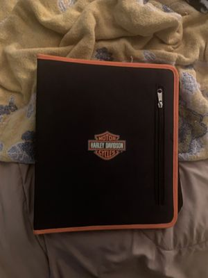 Harley Davidson unused zip around notebook for school three ring binder with pouch for Sale in Riverview, FL